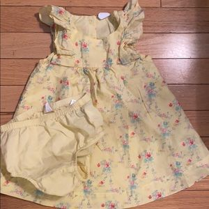 Gap Baby Yellow Floral Dress